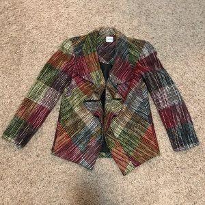 Chico's Tweed Blazer/Jacket with Ruffles Size M